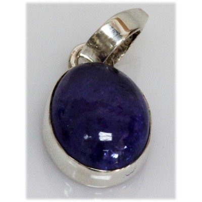 Natural 3.48 g Tanzanite Oval .925 Sterling Pendant