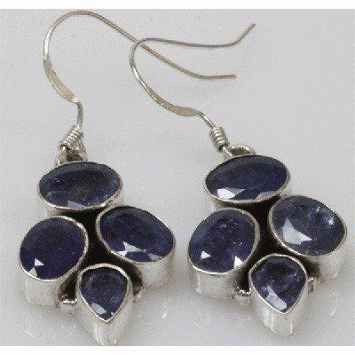 Natural 8.39g Tanzanite Earrings .925 Sterling Silver