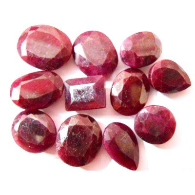 Natural 210.7 ctw Ruby Mix (11) Stones