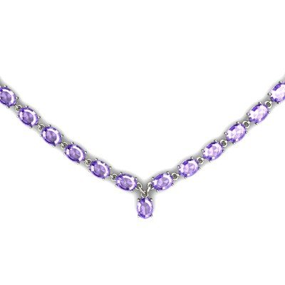 Natural Tanzanite 55.35ctw Oval Necklace 14kt W/Y Gold