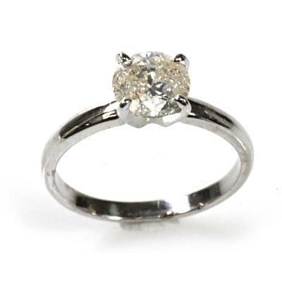 Certified 1.5 ct Solitaire Ring Round Brilliant J I1 I2