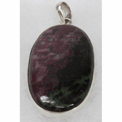 Natural 21g Semi-Precious Pendant .925 Sterling Silver