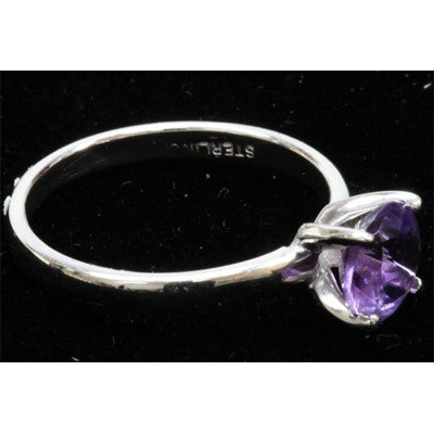 Natural 1.25ctw Amethtyst .925 Sterling Silver Ring