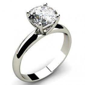 0.85 Ct Round Cut Diamond Solitaire Ring, G-H, I