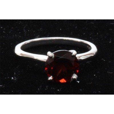 Natural 1ctw Garnet .925 Sterling Silver Ring
