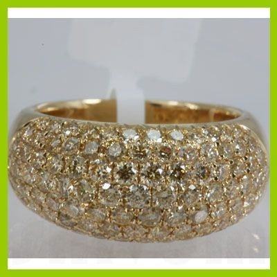 Genuine  2.27 ctw Yellow Diamond Ring 18KT Yellow Gold