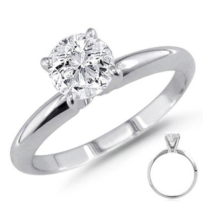 0.40 ct 14K White Gold Solitare Round Ring G-H SI1