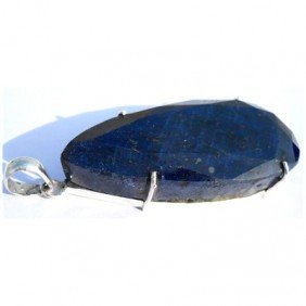 Natural 220.05 ctw Sapphire Pear .925 Sterling Pendant