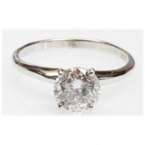 1.5 ctw Certified Diamond 14k Solitaire Ring H I-1