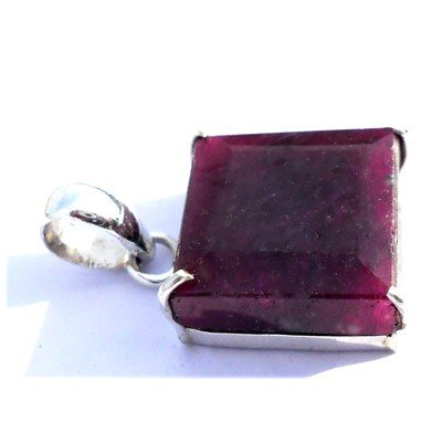Natural 37.6 ctw Ruby .925 Sterling Pendant