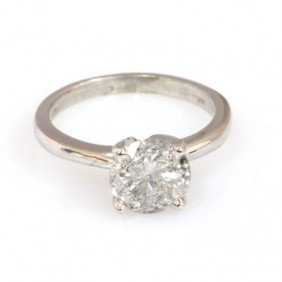 2.15 ct Round cut Diamond Solitaire Ring,  H-K, SI-I
