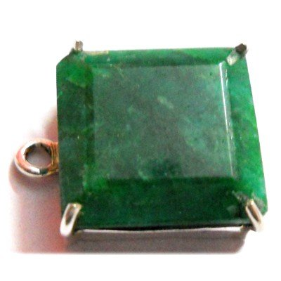 Natural 19.35 ctw Emerald .925 Sterling Pendant