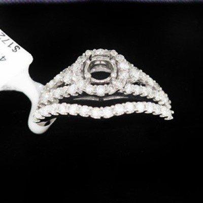 4.05g 14k White Gold Diamond Ring