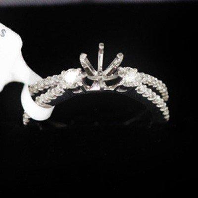 4.57g 14k White Gold Diamond Ring