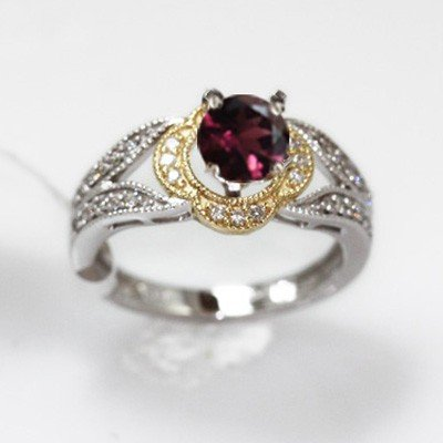 4.40g 14k White Gold Diamond Ring
