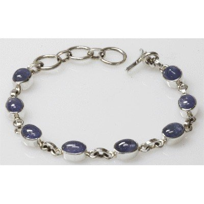 Natural 13.29g Tanzanite Bracelet .925 Sterling Silver