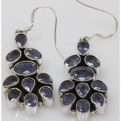 Natural 9.03g Tanzanite Earrings .925 Sterling Silver
