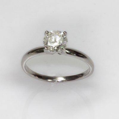 Certified 1.05 ctw Diamond Solitaire Ring H, I-1