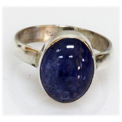 Natural 33.43 ctw Lapis .925 Sterling Ring