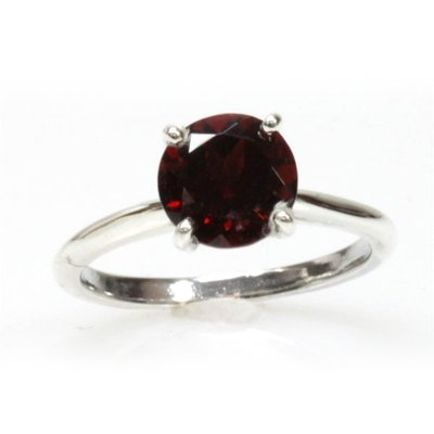 Natural 2.25ctw Garnet .925 Sterling Silver Ring