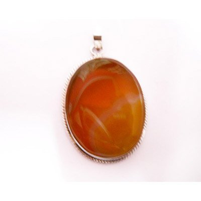 Natural 66.05 ctw Susunight Oval Pendant .925 Sterling