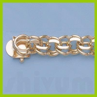 "Genuine 7"" 14k  Gold-Yellow 9.8mm Charm Bracelets 30g"