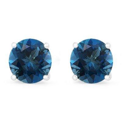 Genuine 4.50 ctw SapphireStud Earring 14k 1.1g
