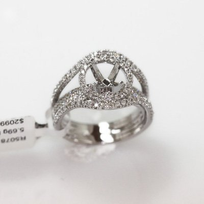 5.69g 14k White Gold Diamond Ring