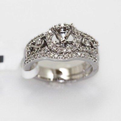 7.06g 14k White Gold Diamond Ring