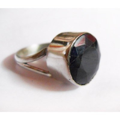 Natural 32.00 ctw Sapphire Round Ring .925 Sterling