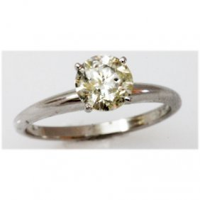 Diamond 1.01 Ctw Solitaire 14k White Gold