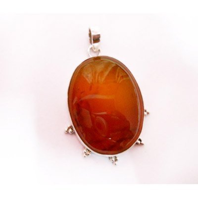 Natural 62.80 ctw Susunight Oval Pendant .925 Sterling