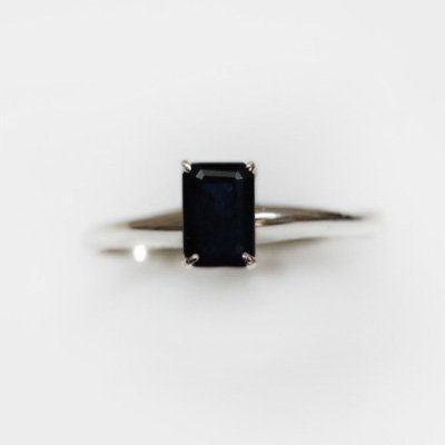 Natural 3.50 ctw Sapphire Emerald .925 Sterling Ring