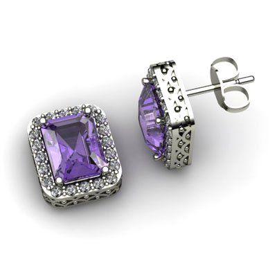 Genuine 5.80 ctw Tanzanite Diamond Earring 14k W/Y Gold