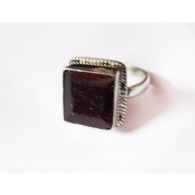 Natural 31.00 ctw Ruby Ring .925 Sterling Silver