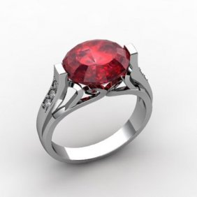 Genuine 6.09 Ctw Ruby Ring 18k W/Y Gold