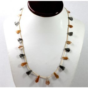 62.61 ctw Natural Smokie Quartz Bead Necklace