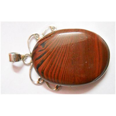 Natural 11.58g Semi Precious Oval .925 Sterling Pendant