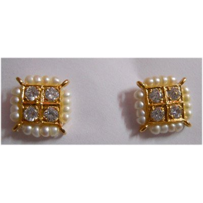 Natural 20.95 ctw Pearl Earring Square With Bronze