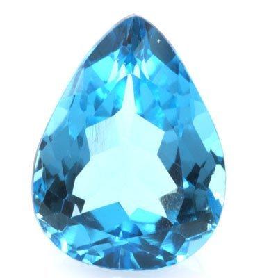 14.02ctw Blue Topaz Pear Shape Semi-Precious Stone