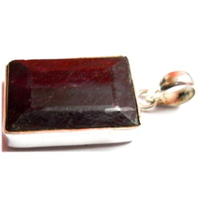 Natural 62.4 ctw Ruby .925 Sterling Pendant