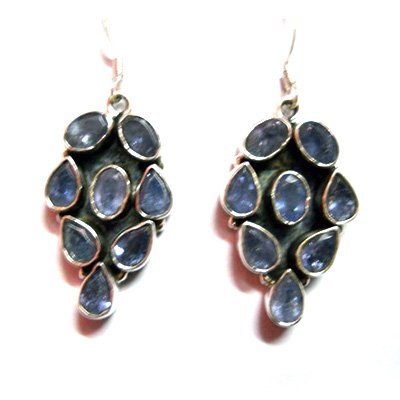 Natural 10.5g Tanzanite .925 Sterling Silver Earrings
