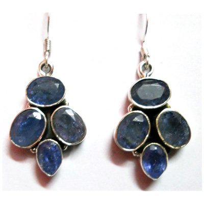Natural 8g Tanzanite .925 Sterling Silver Earrings