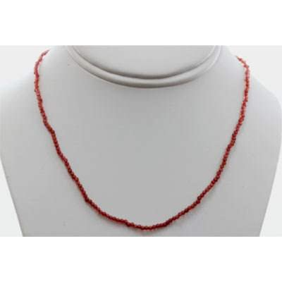 Red Garnet round beads 24.19 ctw Necklace