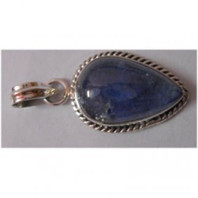 Natural 25.40 Ctw Tanzanite Pendant 925 Sterling