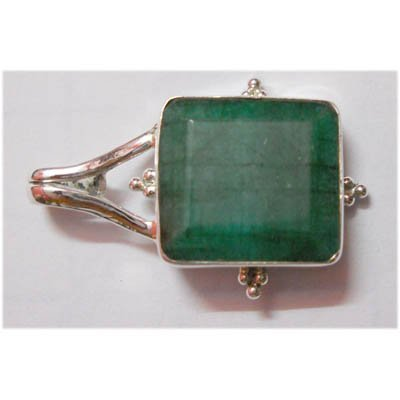 Natural 29.50 ctw Emerald Pendant 925 Sterling