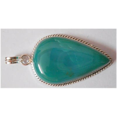 Natural 56.65 ctw Turquoise Onex Pendant .925 Sterling