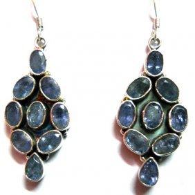 Natural 12g Tanzanite .925 Sterling Silver Earrings