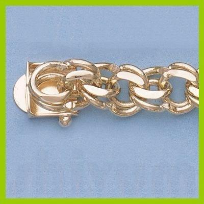 "Genuine 7"" 14k  Gold-Yellow  7.09mm Charm Bracelets 22g"
