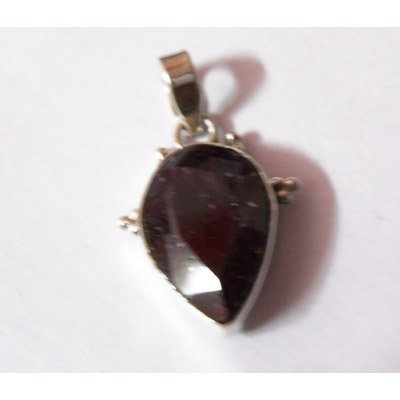 Natural 22.90 ctw Ruby Pear Cut Pendant .925 Sterling